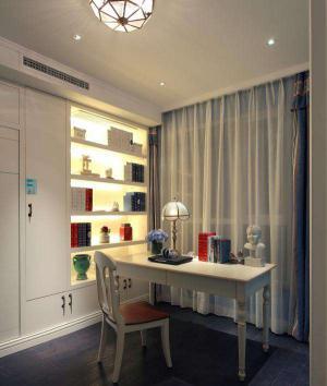 书房布置效果图整体书柜设计