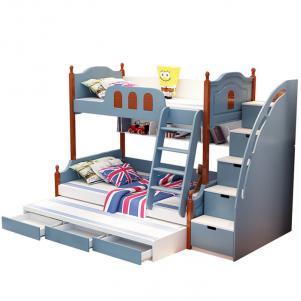 青少年地中海卧室二层床