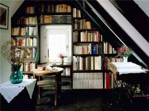 日式书房黑色简约阁楼