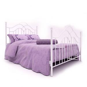 紫红色单人床
