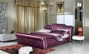 紫红色欧式床
