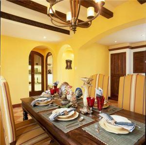 家装长方形餐桌图片