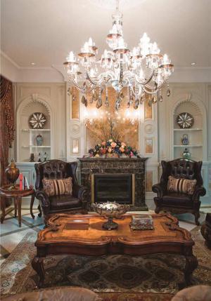 客厅组合沙发摆放