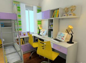 维意设计作品小孩书房装修效果图