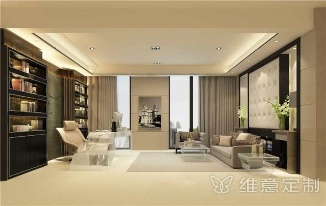 客厅开放式欧式书房装修效果图