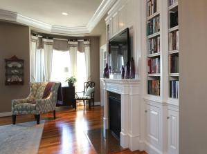 白色设计古典书房装修效果