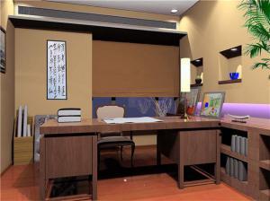 中国风格家庭书房装修效果图