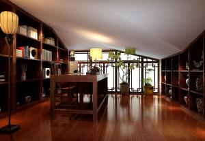 中式阁楼阳光书房装修效果图