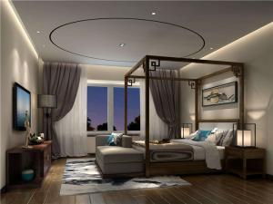 主卧室的床新中式卧室吊顶