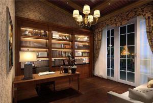 最新古典书房装修效果图