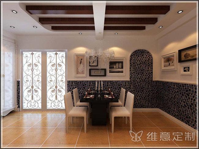 地中海风格长方形餐桌