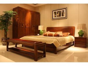 中式实木床家具组合