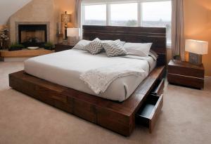 卧室二层床地台设计