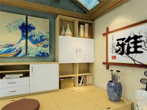 和谐日式书房