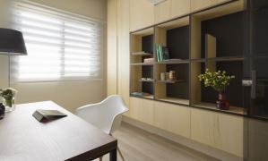 两室两厅现代简约书房装修