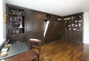 多功能书房装修效果图隐形床
