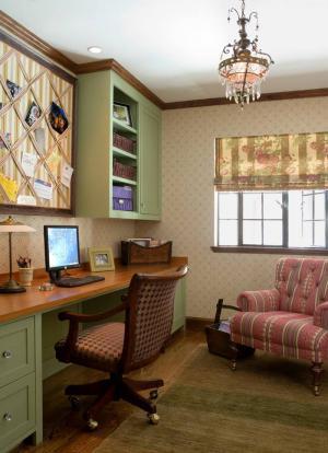 温馨舒适美式书房装修效果