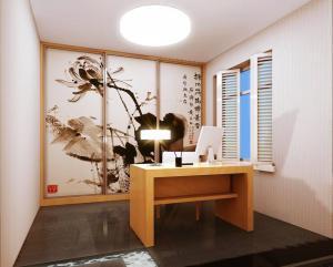 寂静中式书房装修效果图