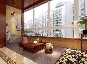 新中式风格阳台设计