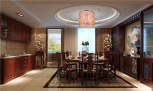 美式小户型客厅餐桌