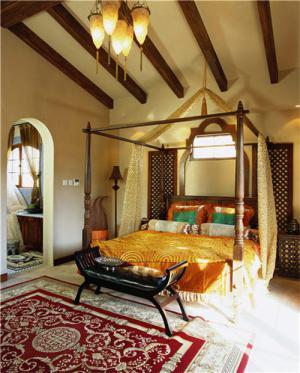 东南亚风格卧室双人床