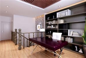 复式三居室现代简约书房装