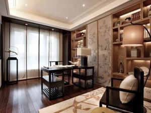 中式书房装修效果图壁纸设计