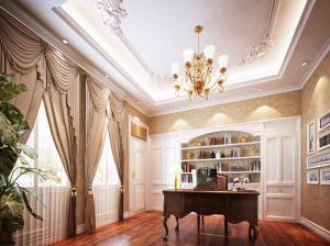 奢华美观欧式书房装修效果图