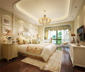 田园小花卧室双人床