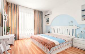 卧室双人床素材高清