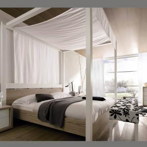 淡雅家具床