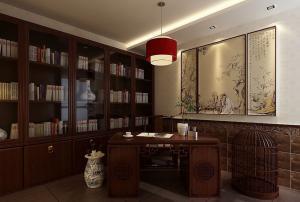 高端典雅古典书房装修效果