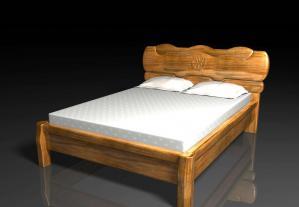 中式实木床素材设计