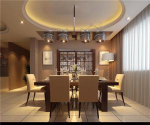 欧式奢华小户型客厅餐桌