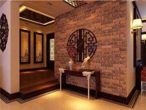 中式风格玄关背景墙