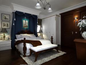 卧室双人床室内设计