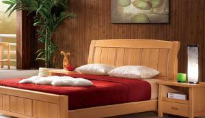 榉木床卧室床款式