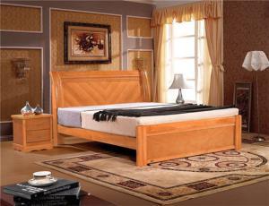 淡雅中式实木床