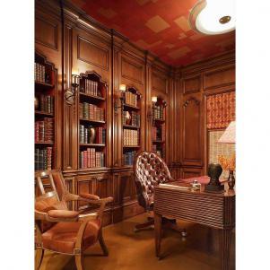古典简欧书房装修效果图