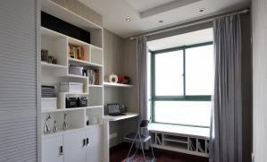 现代灰白家庭书房装修效果图