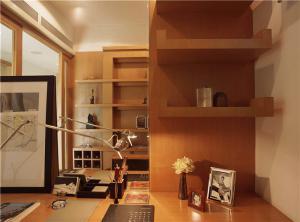 书桌装饰现代书房装修效果图