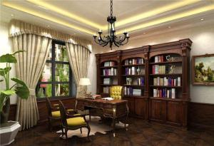 欧式书房装修效果图图集