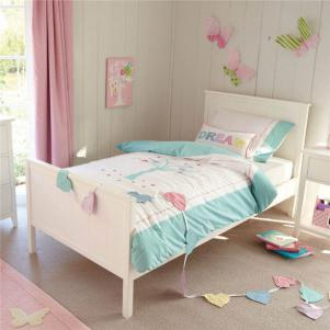 原木色家具单人床