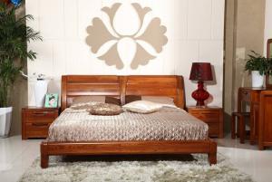 温馨中式实木床