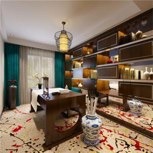 中式书房装修效果图窗帘搭配