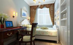 卧室搭配简欧书房装修效果