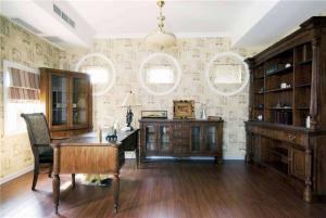 典雅欧美美式书房装修效果图