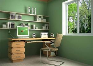 小书房装修效果图绿色养眼