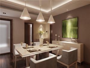 小清新小户型客厅餐桌图片
