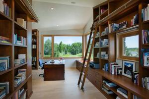 壁柜搭配书房布置效果图